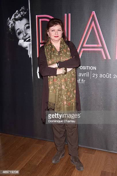 Catherine Jacob attends the PIAF Exhibition celebrating Edith Piaf's birth centenary opening photocall at Bibliotheque Nationale de France on April...