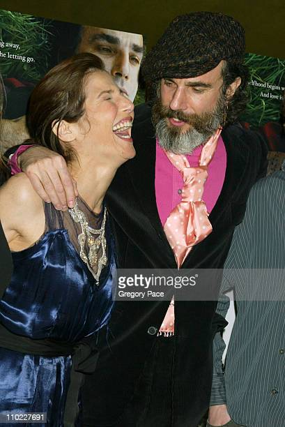 Catherine Keener and Daniel Day Lewis during 'The Ballad of Jack and Rose' New York City Premiere Inside Arrivals at Chelsea West Theater in New York...