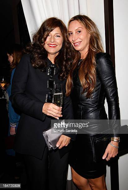 Catherine Keener and Jacqui Getty attend W's Stefano Tonchi and Catherine Keener celebrate W's 40th Anniversary and the Book Release of 'W The First...