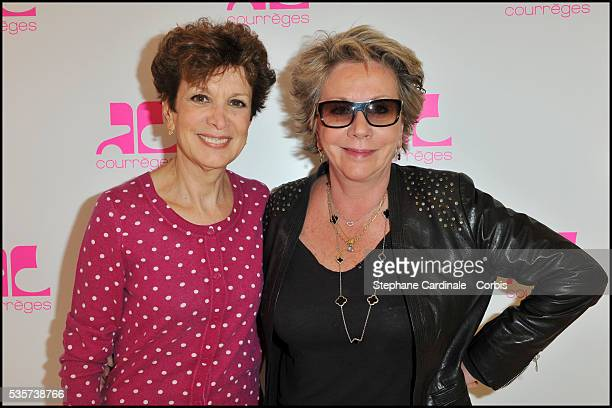 Catherine Laborde and Francoise Laborde attend the Courreges Party during the Vogue Fashion's Night in Paris