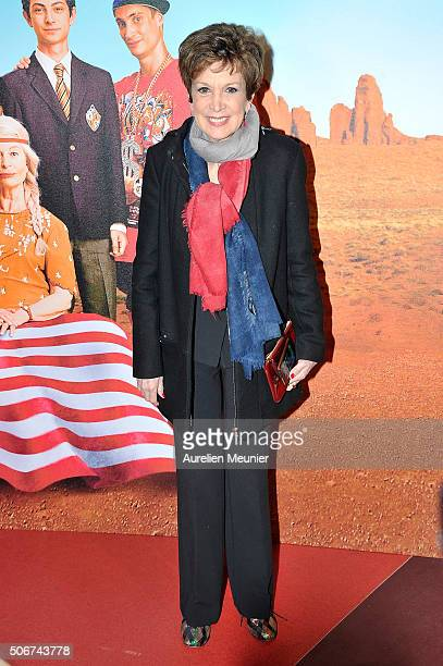 Catherine Laborde attends 'Les Tuche' Paris premiere at Gaumont Opera on January 25 2016 in Paris France