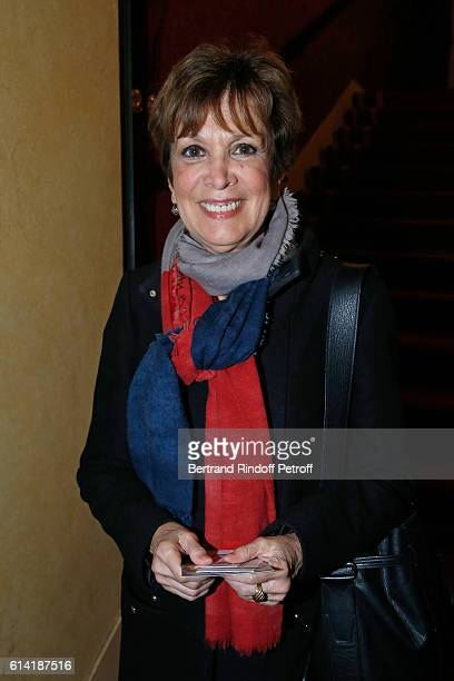 Catherine Laborde attends the 'A Droite A Gauche' Theater Play at Theatre des Varietes on October 12 2016 in Paris France