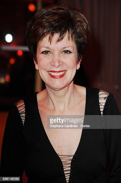 Catherine Laborde attends the Sidaction gala dinner held at the Pavillon d'Armenonville in Paris