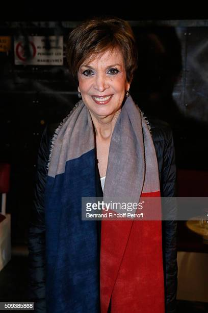 Catherine Laborde presents her Book 'Les chagrins ont la vie dure' during the 'Vivement Dimanche' French TV Show at Pavillon Gabriel on February 10...