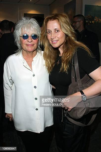 Catherine Lara and Lara Fabian in Paris France on June 23 2009