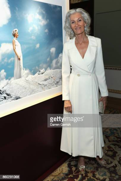 Catherine Loewe attends Giampiero Bodino's 'Beauty Is My Favourite Colour' cocktails and dinner evening at Spencer House on October 11 2017 in London...