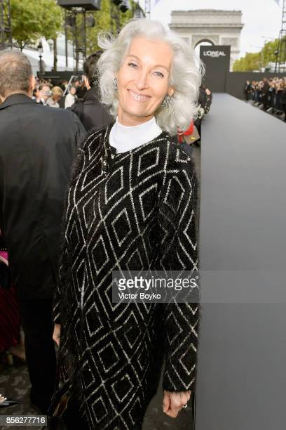 Catherine Loewe attends Le Defile L'Oreal Paris as part of Paris Fashion Week Womenswear Spring/Summer 2018 at Avenue Des Champs Elysees on October 1...