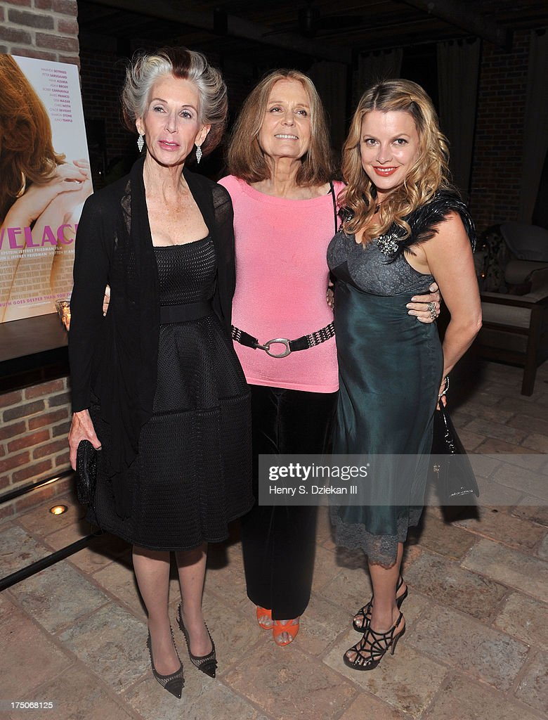 Catherine MacKinnon, Gloria Steinem, and Heidi Jo Markel attend The Cinema Society and MCM with Grey Goose screening of Radius TWC's 'Lovelace' after party at Refinery Rooftop on July 30, 2013 in New York City.