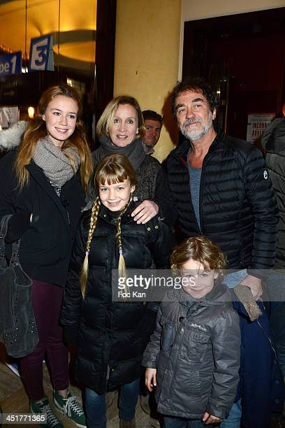 Catherine Marchal Olivier Marchal Kids attend 'Le Bossu de Notre Dame' Premiere at the Theatre Antoine on November 24 2013 in Paris France