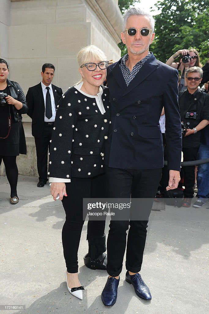 Catherine Martin and Baz Luhrmann attend the Chanel show as part of Paris Fashion Week Haute-Couture Fall/Winter 2013-2014 at Grand Palais on July 2, 2013 in Paris, France.