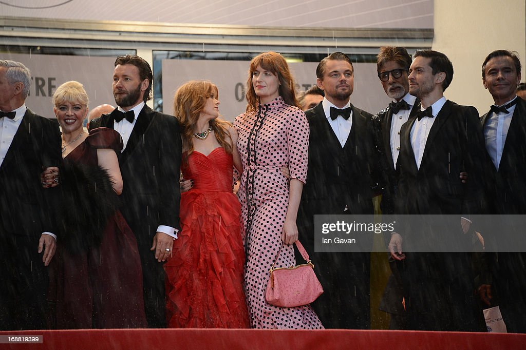 Catherine Martin, Joel Edgerton, Isla Fisher, Florence Welch, Leonardo DiCaprio, Amitabh Bachchan, and Tobey Maguire attend Electrolux at Opening Night of The 66th Annual Cannes Film Festival at the Theatre Lumiere on May 15, 2013 in Cannes, France.