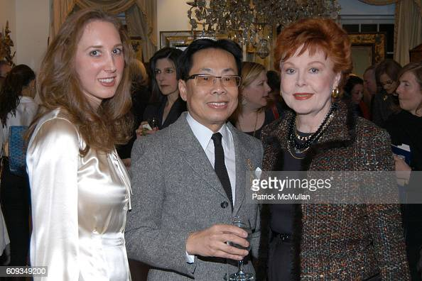 Catherine McCarthy Richard Lee Kung and Judy Sheridan attend Reflections of Splendor An Exhibition of Rare European Mirrors at L'Antiquaire The...