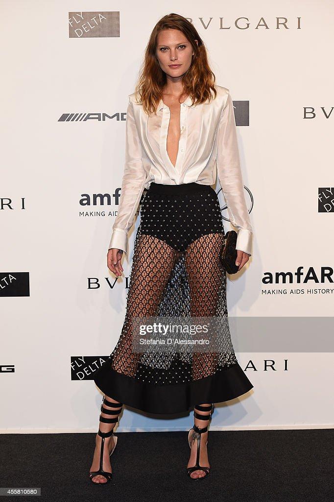 Catherine McNeil attends the amfAR Milano 2014 - Gala as part of Milan Fashion Week Womenswear Spring/Summer 2015 on September 20, 2014 in Milan, Italy.