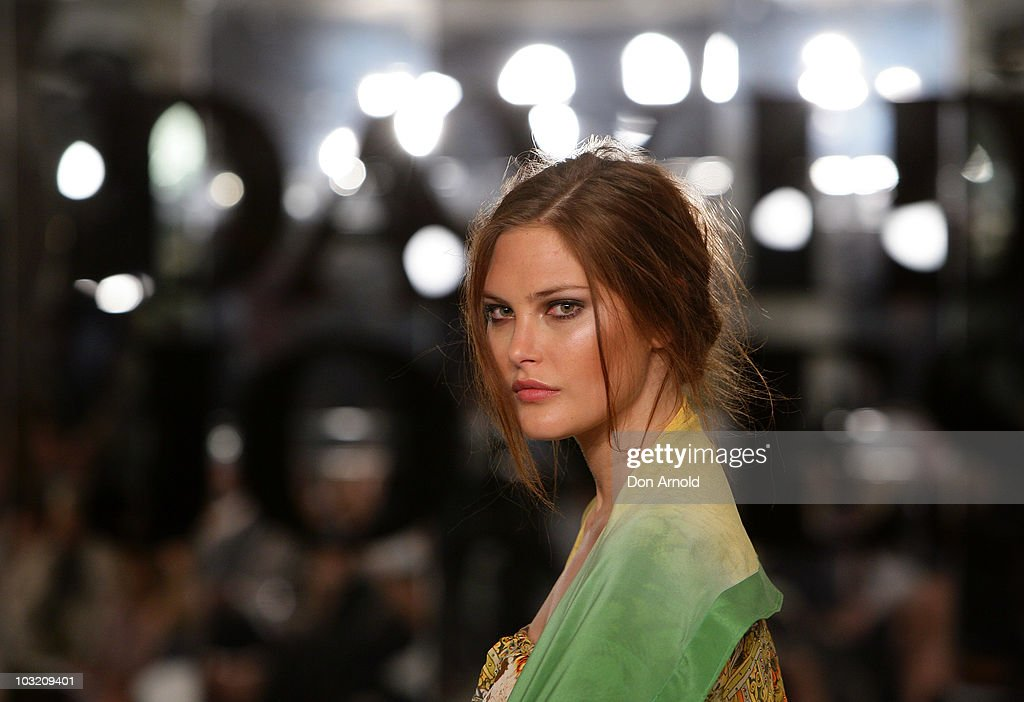 <a gi-track='captionPersonalityLinkClicked' href=/galleries/search?phrase=Catherine+McNeil&family=editorial&specificpeople=737640 ng-click='$event.stopPropagation()'>Catherine McNeil</a> poses on the catwalk during the David Jones Spring/Summer 2010 Season Launch at David Jones Elizabeth Street Store on August 3, 2010 in Sydney, Australia.