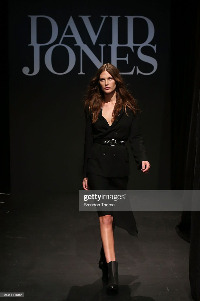 <a gi-track='captionPersonalityLinkClicked' href=/galleries/search?phrase=Catherine+McNeil&family=editorial&specificpeople=737640 ng-click='$event.stopPropagation()'>Catherine McNeil</a> showcases designs by Bassike during rehearsal ahead of the David Jones Autumn/Winter 2016 Fashion Launch at David Jones Elizabeth Street Store on February 3, 2016 in Sydney, Australia.