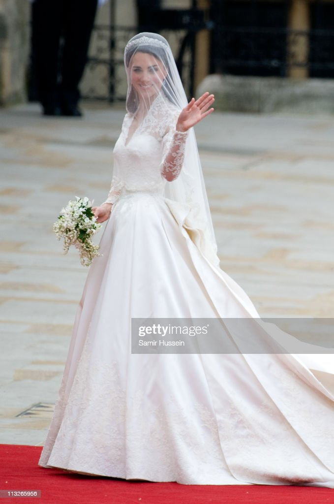 Catherine Middleton arrives to attend her Royal Wedding to Prince William at Westminster Abbey on April 29, 2011 in London, England. The marriage of the second in line to the British throne is to be led by the Archbishop of Canterbury and will be attended by 1900 guests, including foreign Royal family members and heads of state. Thousands of well-wishers from around the world have also flocked to London to witness the spectacle and pageantry of the Royal Wedding.