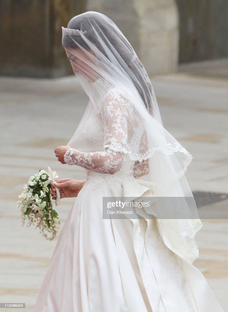 <a gi-track='captionPersonalityLinkClicked' href=/galleries/search?phrase=Catherine+-+Duchess+of+Cambridge&family=editorial&specificpeople=542588 ng-click='$event.stopPropagation()'>Catherine</a> Middleton arrives to attend the Royal Wedding of Prince William to <a gi-track='captionPersonalityLinkClicked' href=/galleries/search?phrase=Catherine+-+Duchess+of+Cambridge&family=editorial&specificpeople=542588 ng-click='$event.stopPropagation()'>Catherine</a> Middleton at Westminster Abbey on April 29, 2011 in London, England. The marriage of the second in line to the British throne is to be led by the Archbishop of Canterbury and will be attended by 1900 guests, including foreign Royal family members and heads of state. Thousands of well-wishers from around the world have also flocked to London to witness the spectacle and pageantry of the Royal Wedding.