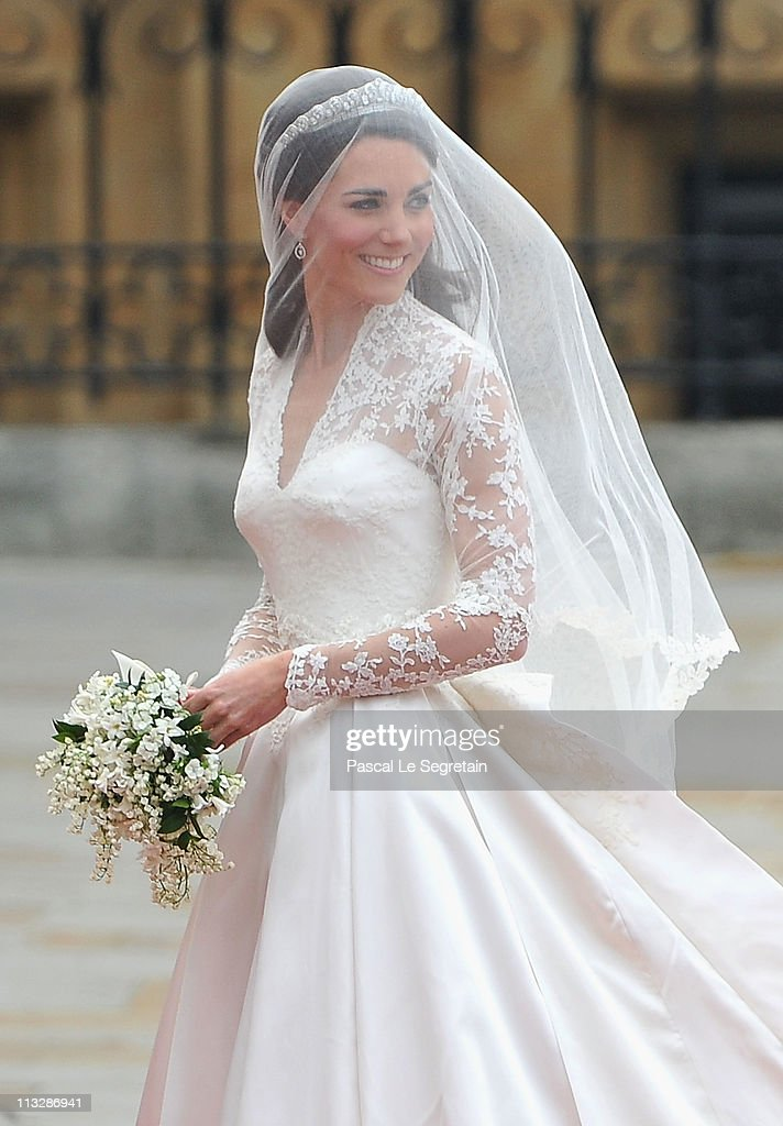 Catherine Middleton arrives to attend the Royal Wedding of Prince William to Catherine Middleton at Westminster Abbey on April 29, 2011 in London, England. The marriage of the second in line to the British throne is to be led by the Archbishop of Canterbury and will be attended by 1900 guests, including foreign Royal family members and heads of state. Thousands of well-wishers from around the world have also flocked to London to witness the spectacle and pageantry of the Royal Wedding.