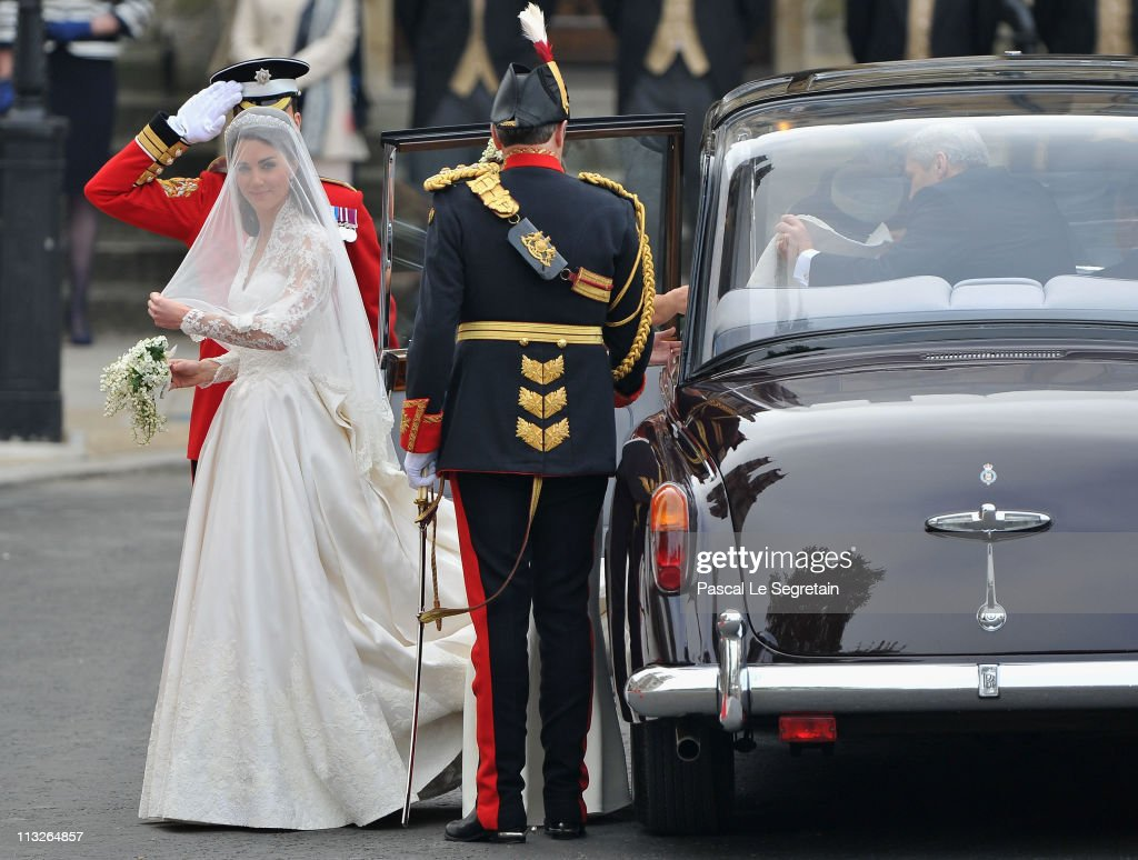Catherine Middleton arrives with her father Michael Middleton to attend the Royal Wedding of Prince William to Catherine Middleton at Westminster...