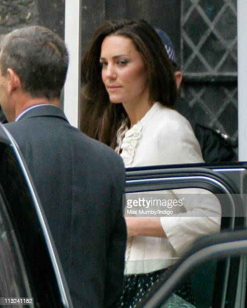 Catherine Middleton Attends A Wedding Rehearsal For Her With Prince William At Westminster Abbey On