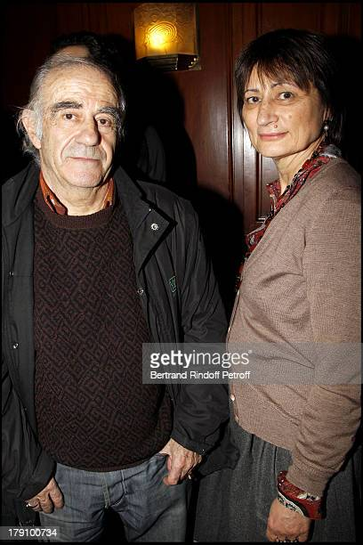 Catherine Millet and husband Jacques Henric at The 20th Anniversary Of La Regle Du Jeu Celebrated At The Cafe De Flore In Paris