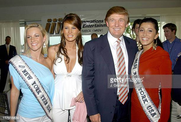 Catherine Muldoon Miss Teen USA New York Melania Knauss Donald Trump and Jaclyn Nesheiwat Miss USA New York