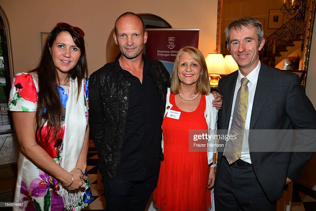 Catherine Mullin, actor Andrew Howard, Catrin Brace, Kevin Sullivan attend Wales Celebrates the launch of 'The Richard Burton Diaries' hosted by The Welsh Government, Swansea University and Yale University Press held at the British Consul-General residence, Hancock Park on October 18, 2012 in Los Angeles, California.