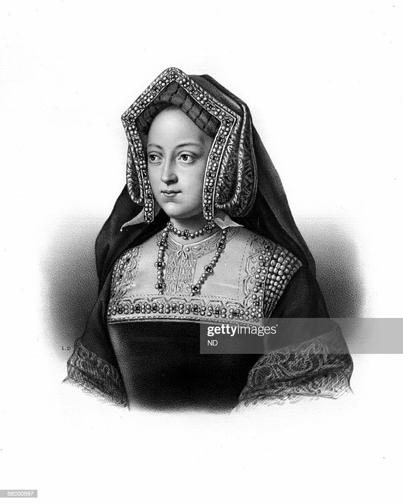 <a gi-track='captionPersonalityLinkClicked' href=/galleries/search?phrase=Catherine+of+Aragon&family=editorial&specificpeople=216175 ng-click='$event.stopPropagation()'>Catherine of Aragon</a> (1483-1536), daughter of Ferdinand V of Aragon, first wife of Henry VIII of England and mother of Mary Tudor.