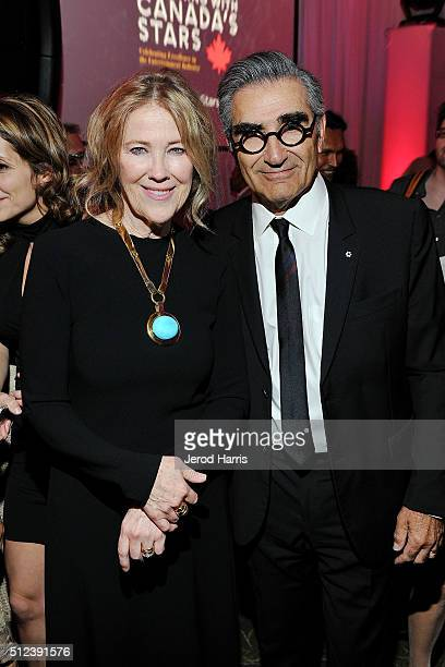 Catherine O'Hara and Eugene Levy attend the 3rd Annual 'An Evening With Canada's Stars' at the Four Seasons Hotel Los Angeles on February 25 2016 in...