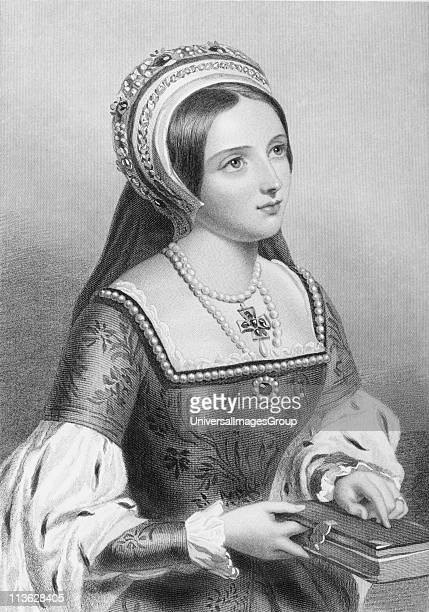 Catherine Parr also spelled Katherine 15121548 English Queen Sixth wife of England's Henry VIIIEngraved by WHMote after JWWrightFrom the book 'The...