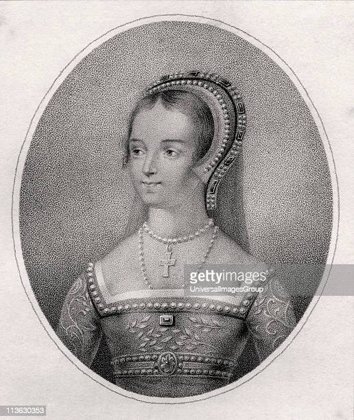 Catherine Parr also spelled Katherine 15121548 English Queen Sixth wife of England's Henry VIII Engraved by Bocquet after Holbein from the book A...