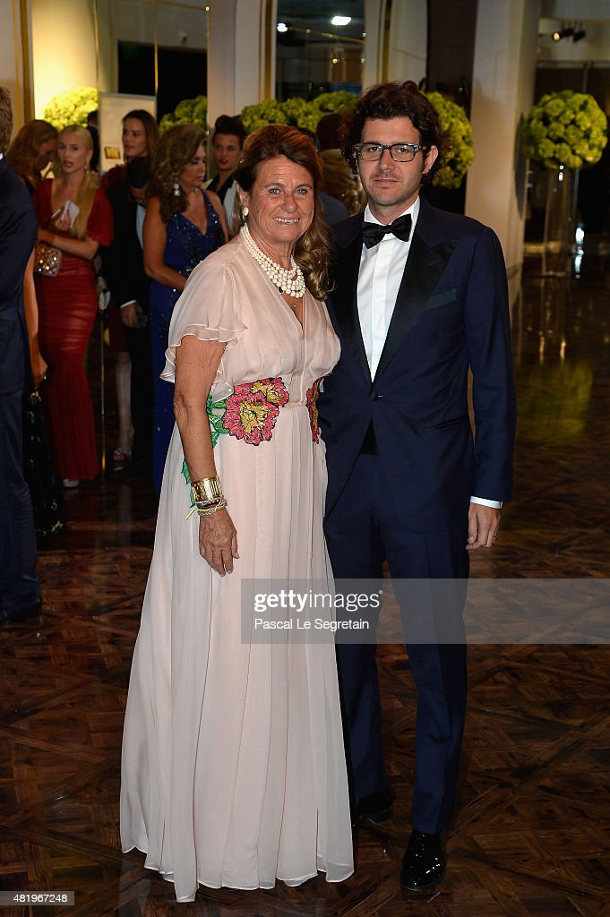 Catherine Pastor and son attend the Monaco Red Cross Gala on July 25, 2015 in Monte-Carlo, Monaco.