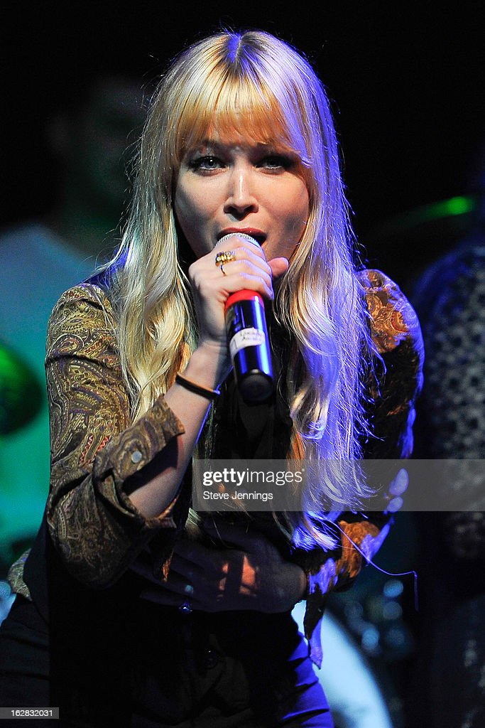 Catherine Pierce of The Pierces performs on stage as Jameson Best Fest launches Petty Fest at The Fillmore on February 27, 2013 in San Francisco, California.
