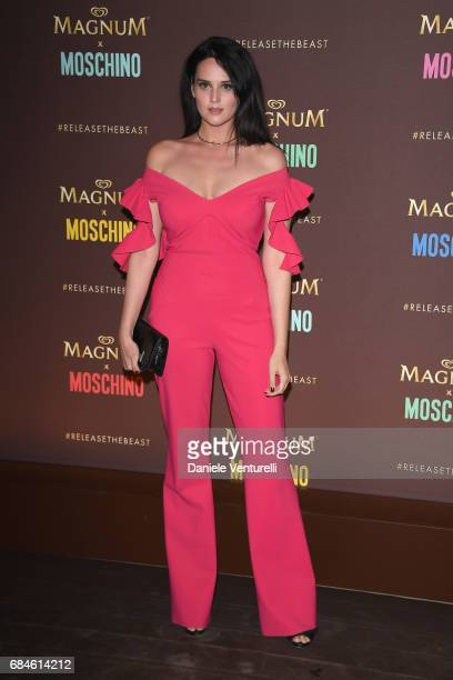 Catherine Poulain attends Magnum party during the 70th annual Cannes Film Festival at Magnum Beach on May 18 2017 in Cannes France