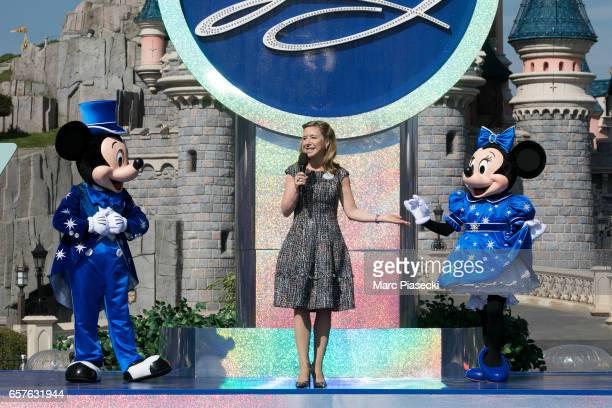 Catherine Powell CEO of Eurodisney SAS attends the Disneyland Paris 25th Anniversary opening ceremony at Disneyland Paris on March 25 2017 in Paris...