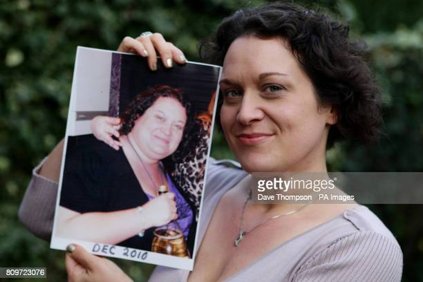 Catherine Powell from Alsager Cheshire December 2010 as she celebrates dropping eight dress sizes and shed more than eight stone in under 12 months