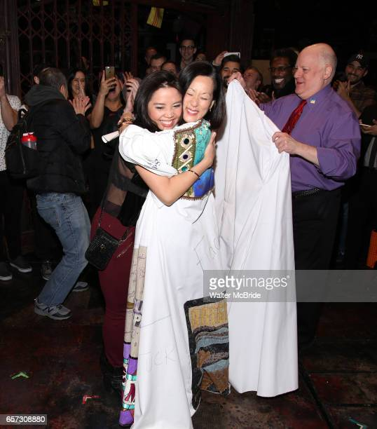 Catherine Ricafort MaryAnn Hu and David Westphal during The Opening Night Actors' Equity Gypsy Robe Ceremony honoring Catherine Ricafort for the New...