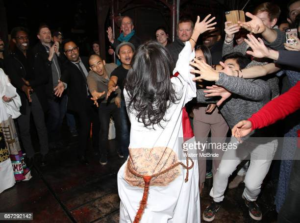 Catherine Ricafort with cast during The Opening Night Actors' Equity Gypsy Robe Ceremony honoring Catherine Ricafort for the New Broadway Production...