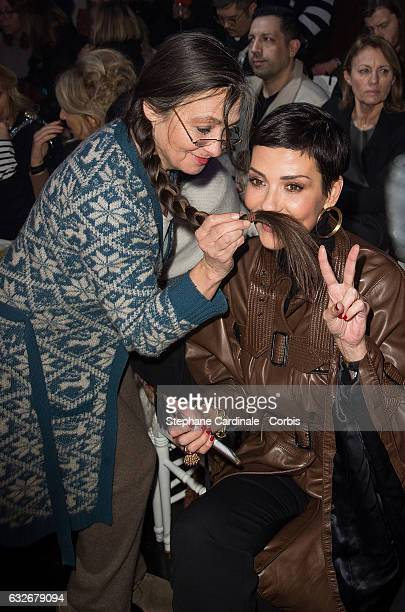 Catherine Ringer and Cristina Cordula attend the Jean Paul Gaultier Haute Couture Spring Summer 2017 show as part of Paris Fashion Week on January 25...