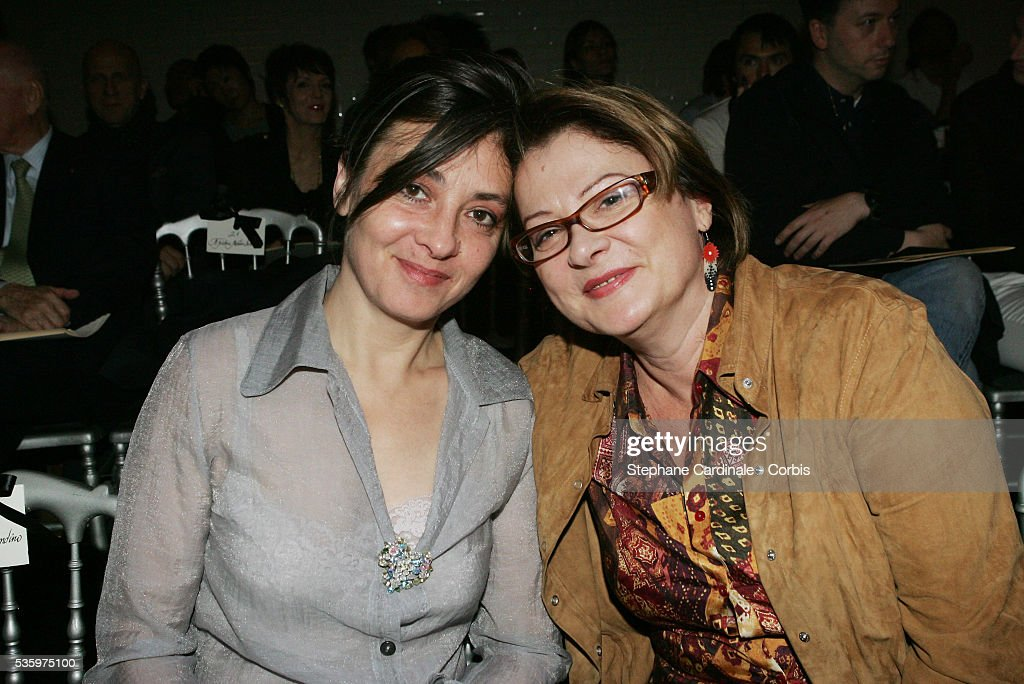 Catherine Ringer and Josiane Balasko attend the Jean-Paul Gaultier 'Haute Couture' 2005-2006 Fall-Winter fashion collection.