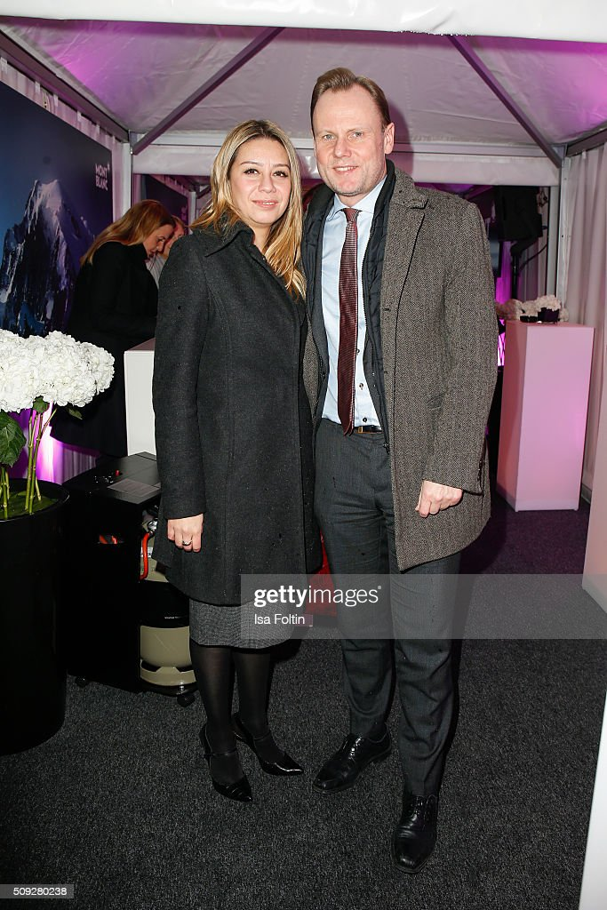 Catherine Saavedra and Andy Grote attend the Montblanc House Opening on February 09, 2016 in Hamburg, Germany.