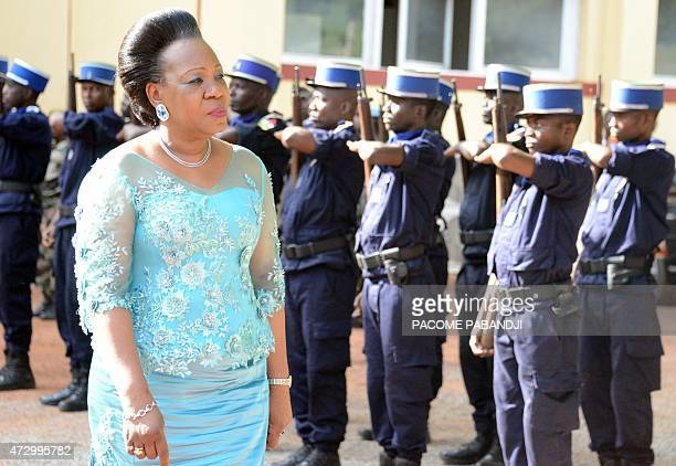 Catherine Samba Panza President of the transitional government of the Central African Republic arrives at the transitional parliament in Bangui on...