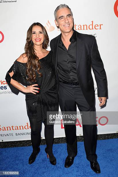 Catherine Siachoque and Miguel Varoni arrives at BeLive 5th Anniversary Celebration to benefit 4 Columbian at Ritz Carlton South Beach on November 17...