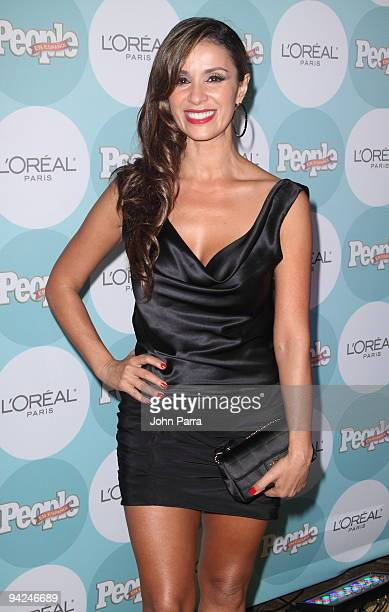 Catherine Siachoque arrives at 2009 Premios People En Espanol at Club 50 at Viceroy Miami on December 9 2009 in Miami Florida