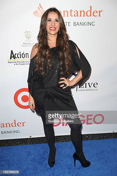 Catherine Siachoque arrives at BeLive 5th Anniversary Celebration to benefit 4 Columbian at Ritz Carlton South Beach on November 17 2011 in Miami...