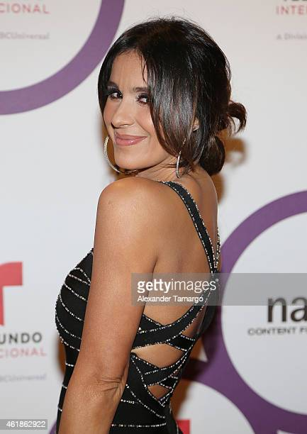 Catherine Siachoque arrives at Telemundo International Welcome Party during NATPE 2015 at Adrienne Arsht Center on January 20 2015 in Miami Florida