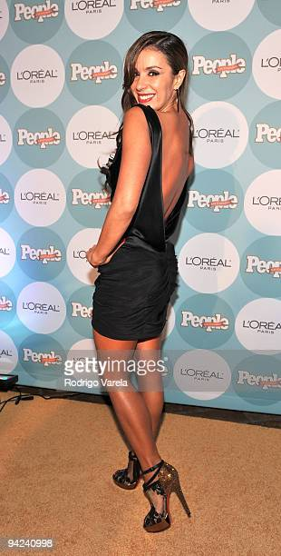 Catherine Siachoque arrives at the 2009 Premios People En Espanol event at Club 50 at Viceroy Miami on December 9 2009 in Miami Florida