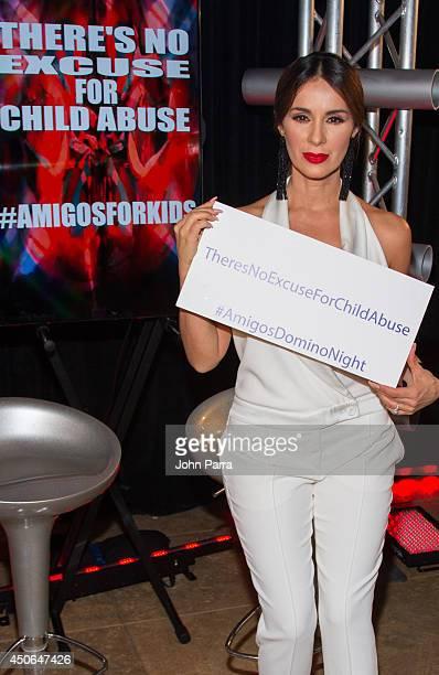 Catherine Siachoque attends Amigos For Kids Voya Miami Celebrity Domino Night at Jungle Island on June 14 2014 in Miami Florida