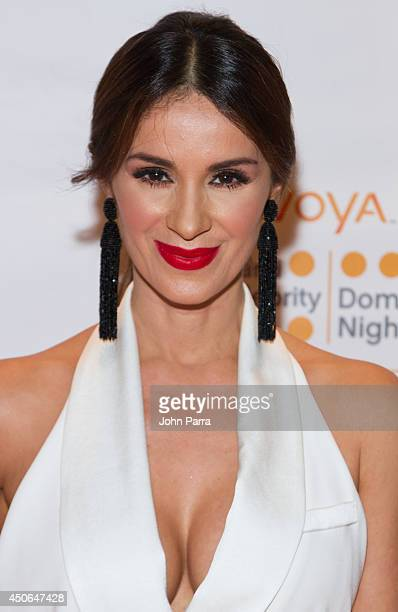 Catherine Siachoque attends Amigos For Kids Voya Miami Celebrity Domino Night at Jungle Island on June 14 2014 in Miami Florida