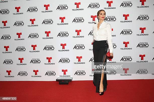 Catherine Siachoque attends 'Senora Acero' second season premiere red carpet at Cinepolis Plaza Carso on September 22 2015 in Mexico City Mexico